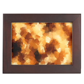 Cubist Fire Abstract Pattern Memory Box