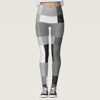 Cubist in Grayscale Leggings