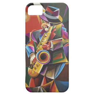 Cubist Jazz Sax Fine Art iPhone Case