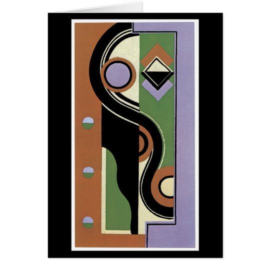 Cubistic Portrait Card