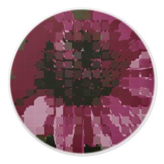 Cubistic Purple Coneflower Ceramic Knob