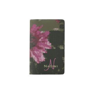 Cubistic Purple Coneflower Custom Name Pocket Moleskine Notebook