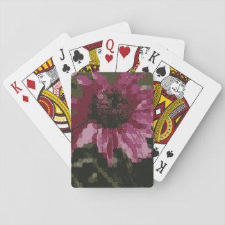 Cubistic Purple Coneflower Poker Deck