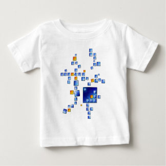 Cublerossia V1 - falling cubes Baby T-Shirt