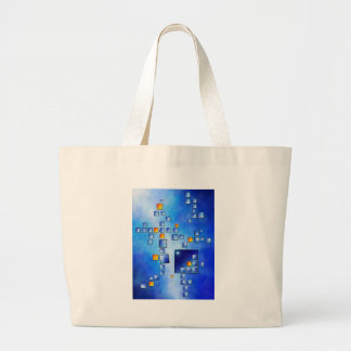 Cublerossia V1 - falling cubes Large Tote Bag
