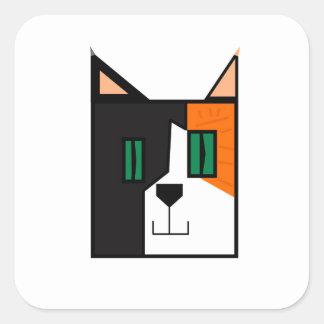 CuboCat - Razi Square Sticker