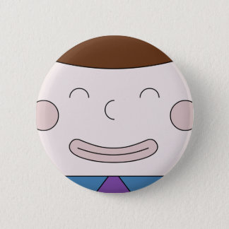 Cuboy Face On Badge 2 Inch Round Button