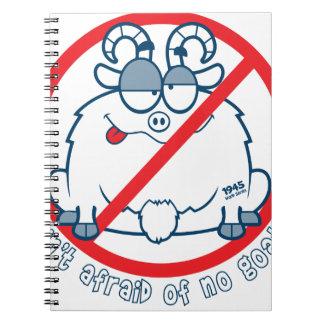 cubs chicago goat shirt spiral notebook