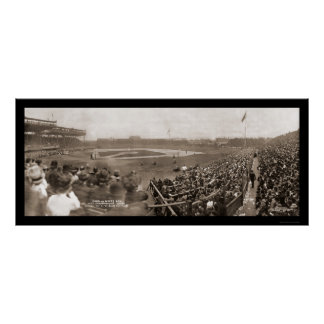 Cubs v White Sox Photo 1909 Poster