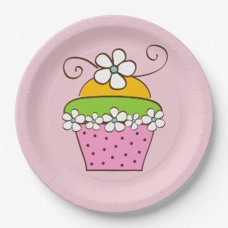 Cucake Illustration Paper Plate