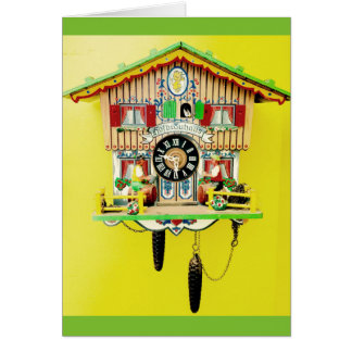 Cuckoo clock blank greeting card