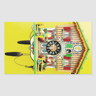 Cuckoo Clock rectangular glossy sticker