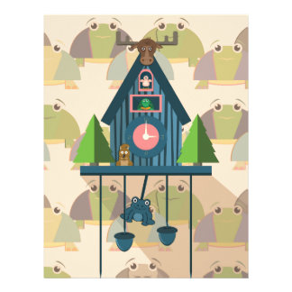 Cuckoo Clock with Turtle Wall paper