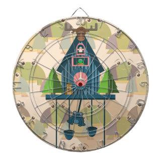 Cuckoo Clock with Turtle Wall paper Dartboard