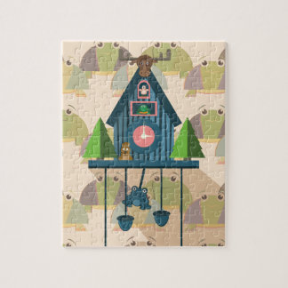 Cuckoo Clock with Turtle Wall paper Jigsaw Puzzle