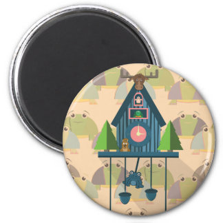 Cuckoo Clock with Turtle Wall paper Magnet