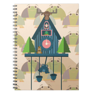 Cuckoo Clock with Turtle Wall paper Notebook