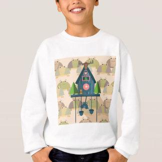 Cuckoo Clock with Turtle Wall paper Sweatshirt