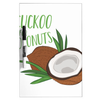 Cuckoo Coconuts Dry Erase Board