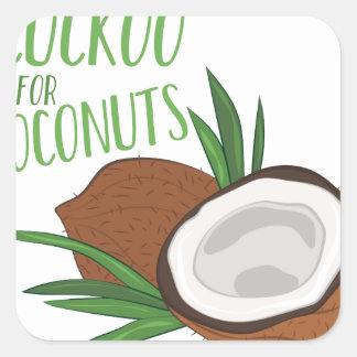 Cuckoo Coconuts Square Sticker