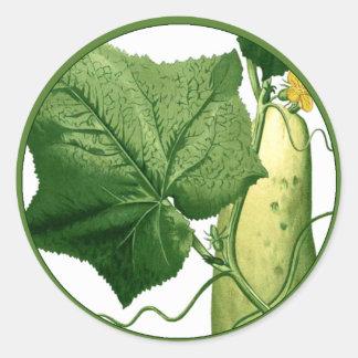 Cucumber Art Sticker 1