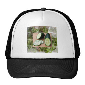 CUCUMBER Cool Minds Healthy Skin Tonic Salad foods Trucker Hat