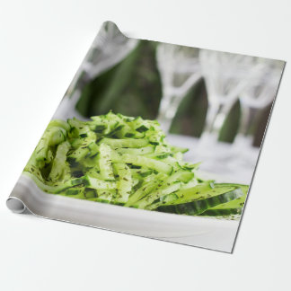 Cucumber salad wrapping paper