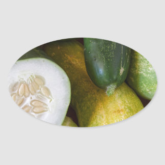 Cucumber Seeds Oval Sticker