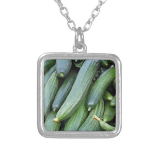 cucumber silver plated necklace