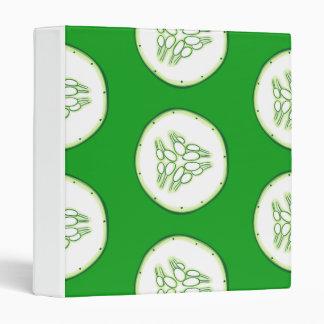 Cucumber slices pattern 3 ring binder