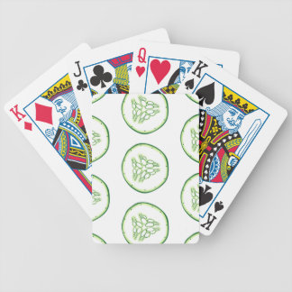 Cucumber slices pattern bicycle playing cards