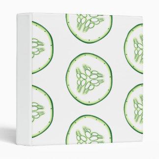 Cucumber slices pattern binder