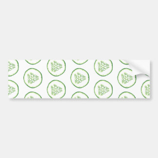 Cucumber slices pattern bumper sticker