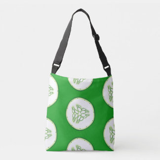 Cucumber slices pattern crossbody bag