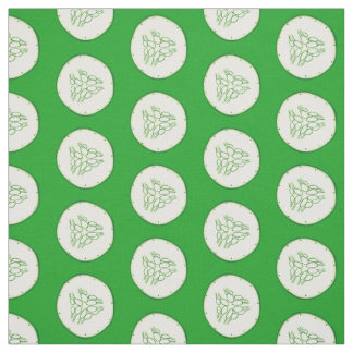 Cucumber slices pattern fabric