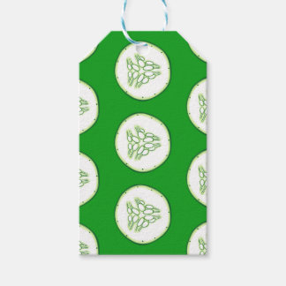 Cucumber slices pattern gift tags