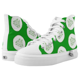 Cucumber slices pattern high tops
