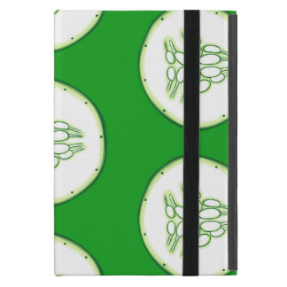 Cucumber slices pattern iPad mini cover