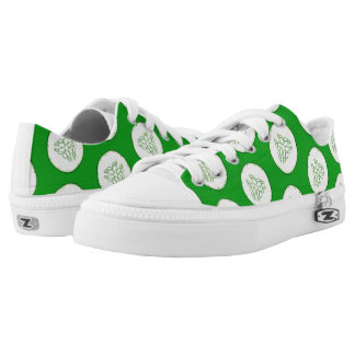 Cucumber slices pattern Low-Top sneakers