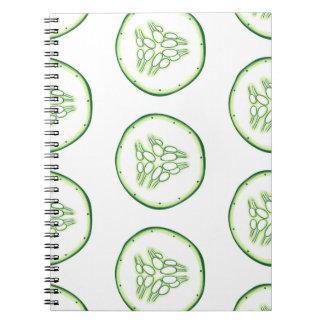 Cucumber slices pattern notebook