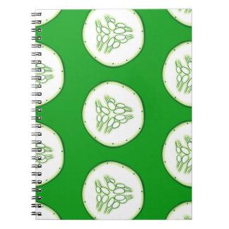 Cucumber slices pattern notebooks