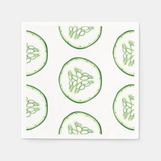 Cucumber slices pattern paper napkin