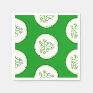 Cucumber slices pattern paper napkins