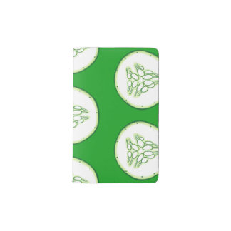 Cucumber slices pattern pocket moleskine notebook