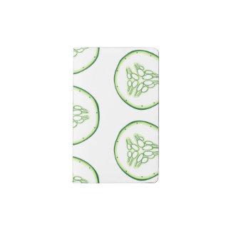 Cucumber slices pattern pocket moleskine notebook