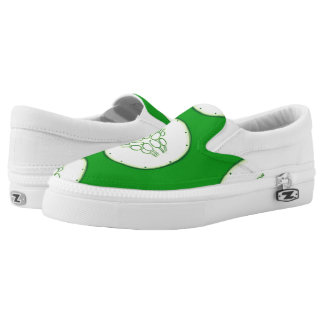 Cucumber slices pattern Slip-On sneakers