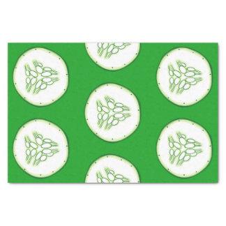 Cucumber slices pattern tissue paper