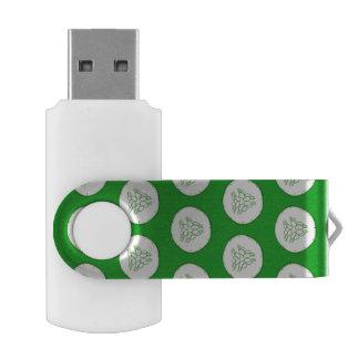 Cucumber slices pattern USB flash drive