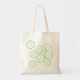 Cucumber slices. tote bag