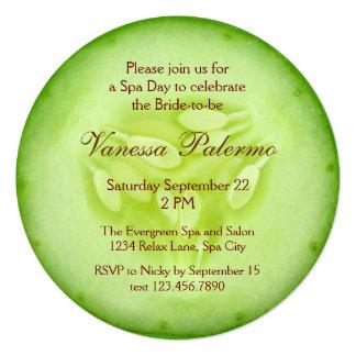 Cucumber Spa Bridal Shower Invitation